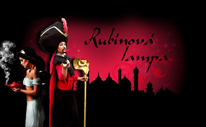 rubínová lampa