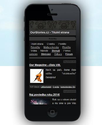 OurStrories.cz na mobilu